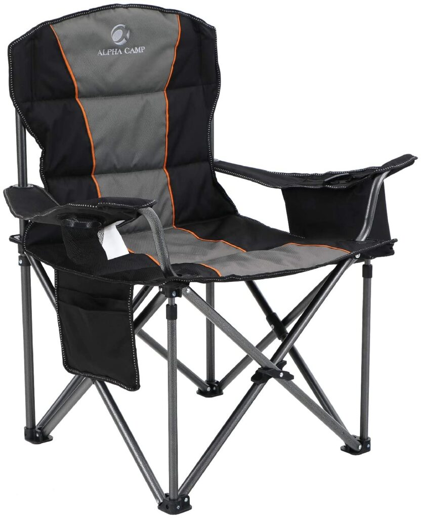 ALPHA CAMP Oversized Camping Folding Chair Heavy Duty