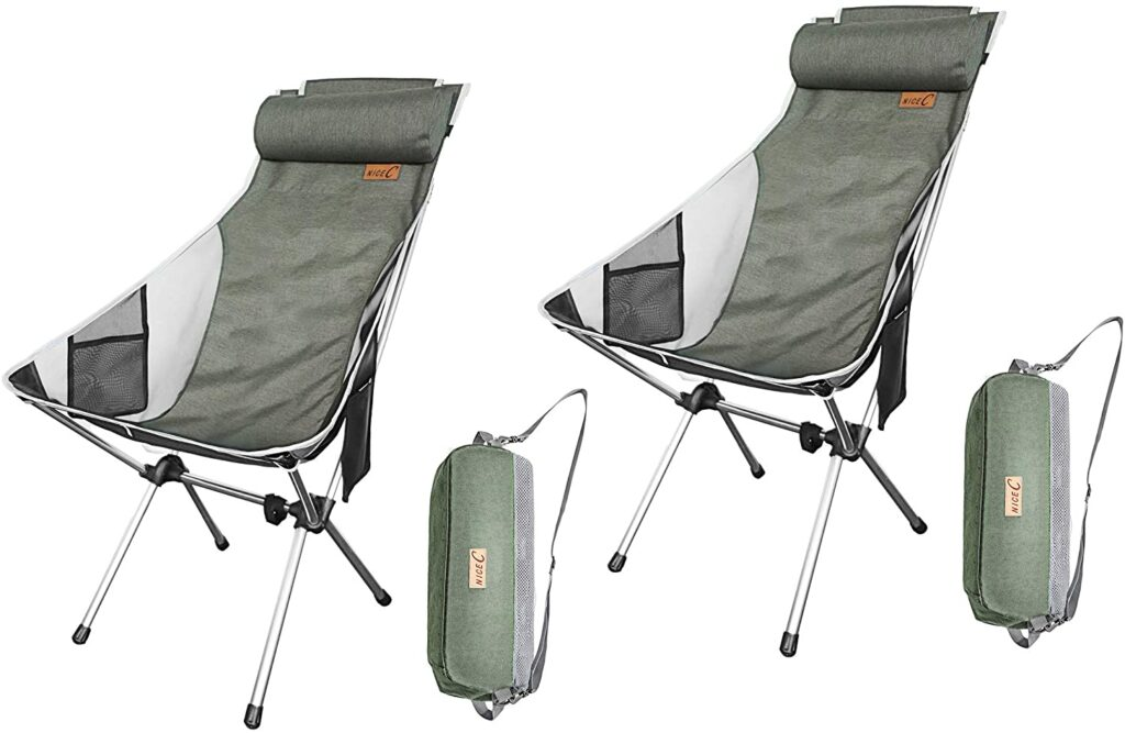 Nice C Ultralight High Back Folding Camping Chair